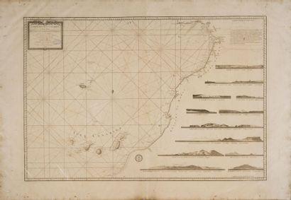 Carte marine des Canaries XVIIIème siècle....