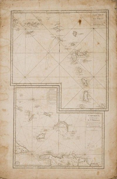 Carte marine des Antilles et Saint Domingue...