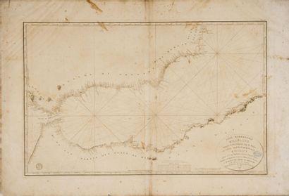 Carte marine de Gibraltar, des côtes africaines...