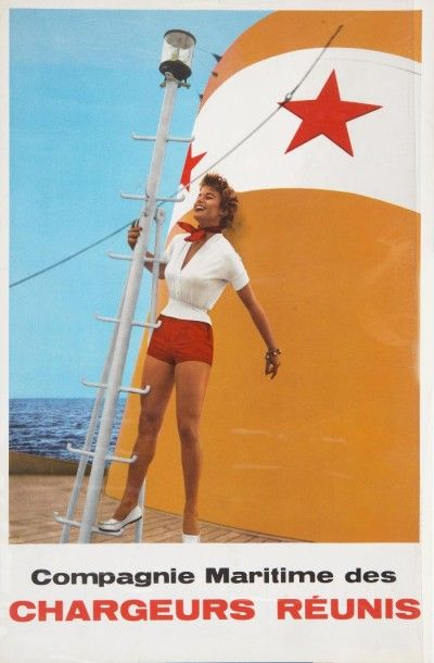 Compagnie Maritime des Chargeurs Réunis Pin-up....