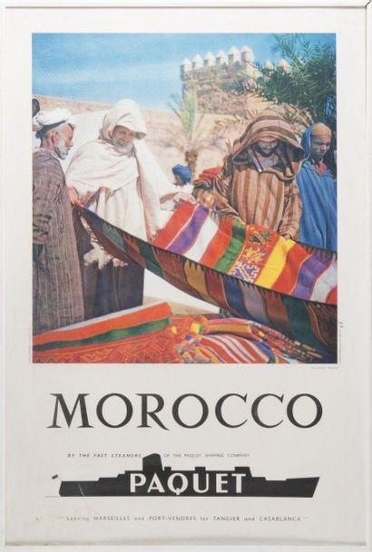 Compagnie Paquet Maroc photo Bertrand 1950/1960....