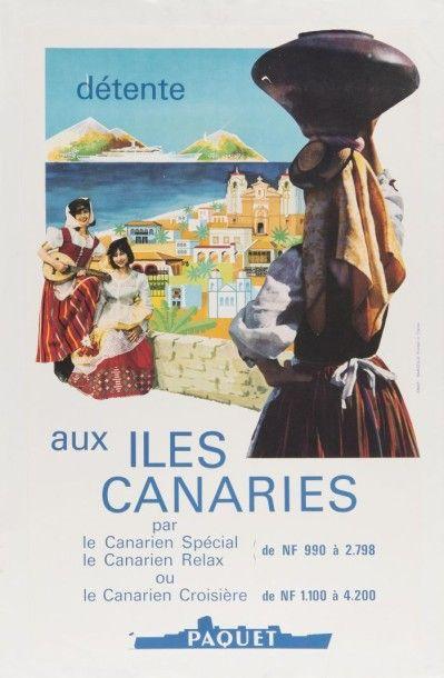 Compagnie Paquet - Aux Iles Canaries Affiche...