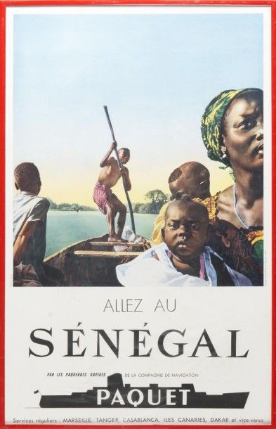 Compagnie Paquet Sénégal, photos SMAP 1950/1960....