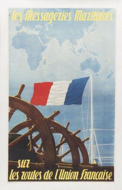 Messageries Maritime Union Française Affiche...