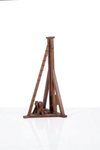 Maquette de sonnette en bois Début du XXème...