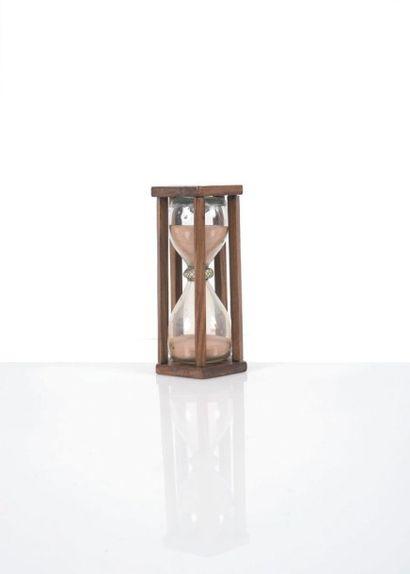 Sablier en bois à 5 colonnes Epoque XVIIIème...