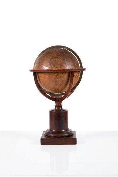 Grand globe terrestre DELAMARCHE Milieu XIXème...