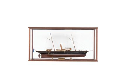 Maquette de bateau mixte 57 x 109 x 30 c...