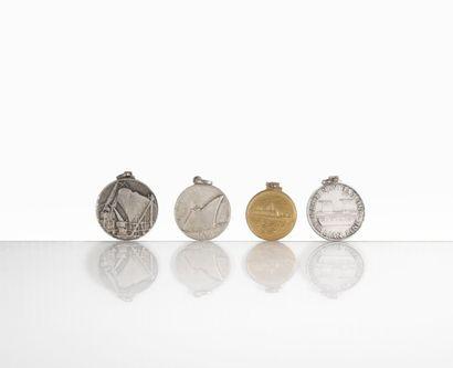 4 Médailles Italian Line, Michelangelo, Lineacosta...