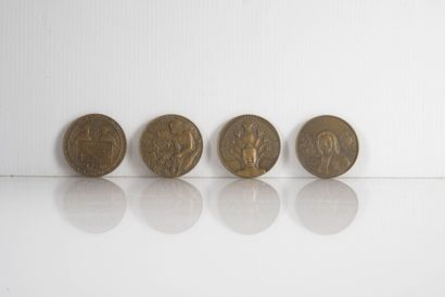 4 Médailles commémoratives des Messageries...