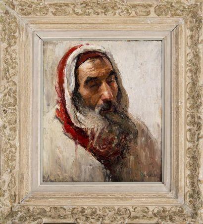 Raymond TELLIER (1897-1985) Juif de Tafilalet Maroc. Huile sur panneau. Signée en...