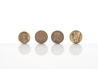 Quatre médailles commémoratives LE FOCH ?...