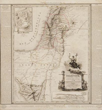 Carte de la palestine Dressée par A. H. Dufour,...