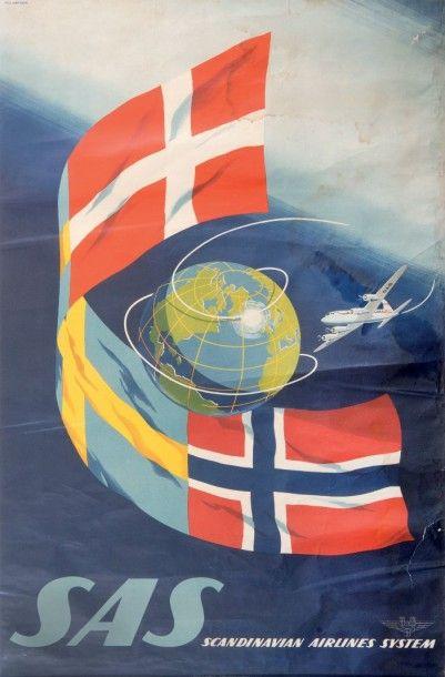 Scandinavian Airlines Affiche. 100 x 62 ...