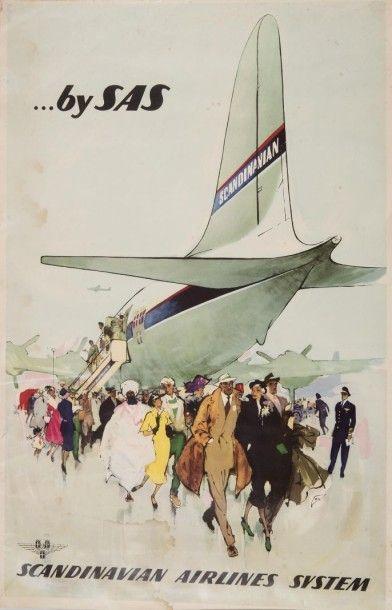 SAS Scandinavian Airlines Affiche. 97 x 61...