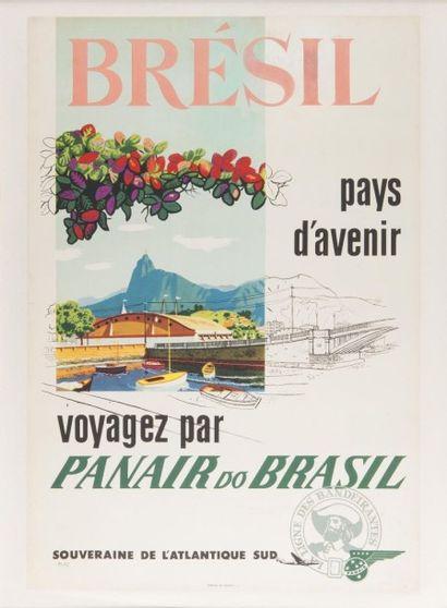 PANAIR do Brazil Brésil pays d?avenir. Affiche...