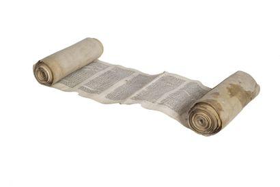 Rouleau de Thora de voyage Manuscrit en caractères...