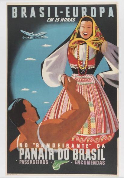 PANAIR do Brazil Brazil ? Europa; 1947. Affiche...