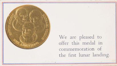 Médaille commémorative de la mission Apollo...