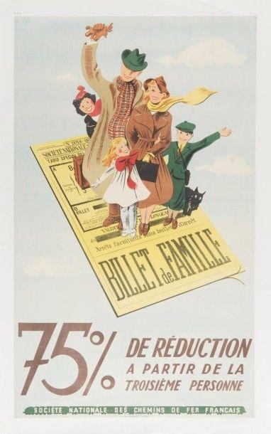SNCF 75 % de réduction Affiche entoilée,...