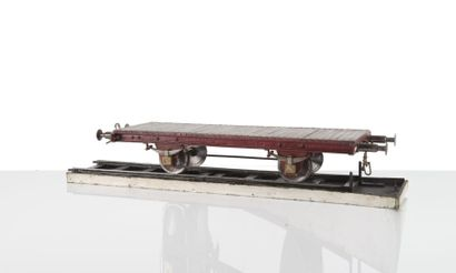 Maquette d?arsenal d?un wagon plateau sur...