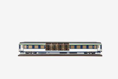 SNCF Maquette de chantier d?un train couchette...
