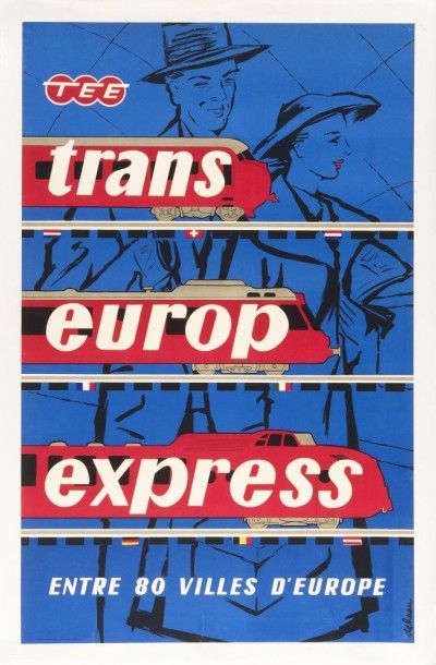 Trans Europ Express Affiche entoilée, bon...