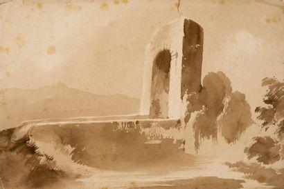 Artiste français en Italie, début du XIXème siècle