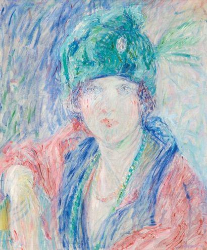 William MALHERBE (1884-1951) Portrait de dame. Huile sur toile. Signée en bas à droite....
