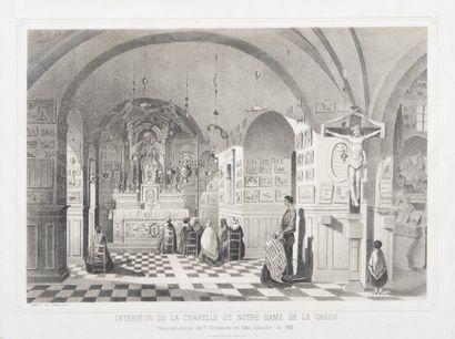 Gravure du XIXème siècle.Intérieur de la...