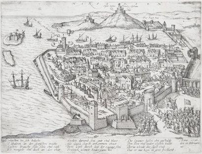 Gravure du XVIème siècle.Entrée du Duc de...