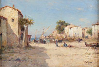 Henri MALFROY (1895-1944) Les Martigues.Huile sur toile.Signée en bas à droite.38...