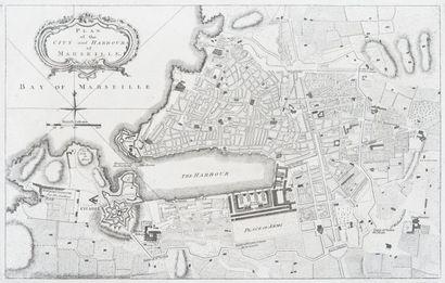 Gravure anglaise du XVIIIème siècle.Plan...