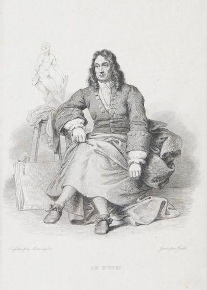 Gravure du XIXème siècle.Pierre Puget.23...