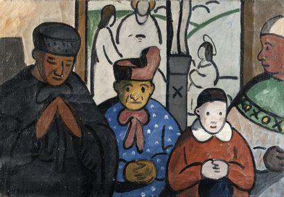 Louis-Mathieu VERDILHAN (1875-1928) Les Prieuses.Huile sur toile.Signée en bas à...