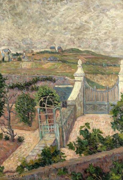 PAUL SIGNAC (1863-1935)  Saint-Briac. D'une fenêtre  signé et daté 'Signac 85' (en...