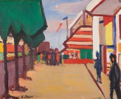 Albert Piétri (1894-1956) Albert PIETRI (1894-1956)  Rue à Marseille  Huile sur toile...