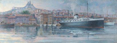 Augustin CARRERA (1878-1952) Augustin CARRERA (1878-1952)  Le Vieux Port de Marseille...