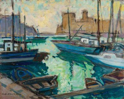JEAN-frederic CANEPA (1894-1981) Jean-Frédéric CANEPA (1894-1981)  Vue du Vieux Port...