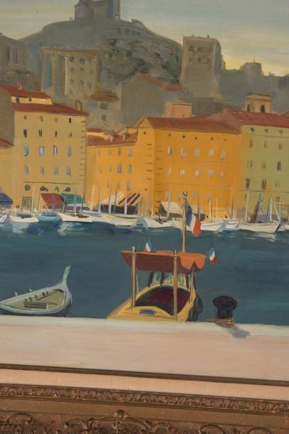 Yves BRAYER (1907-1990) Yves BRAYER (1907-1990)  Vieux Port  Huile sur toile  Signée...