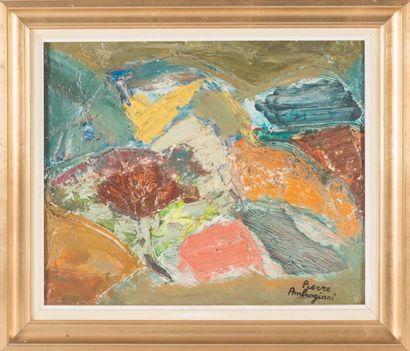 Pierre AMBROGIANI (1907-1985) Pierre AMBROGIANI (1907-1985)  Nature morte  Huile...