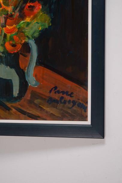 Pierre AMBROGIANI (1907-1985) Pierre AMBROGIANI (1907-1985)  Le bouquet  Huile sur...