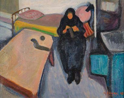Antoine SERRA (1908-1995) Antoine SERRA (1908-1995)  La cuisine du mas, 1948  Huile...
