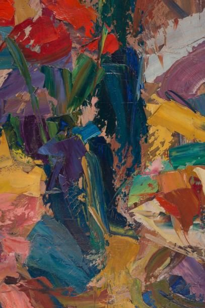 Antoine FERRARI (1910-1995) Antoine FERRARI (1910-1995)  Nature morte au bouquet...