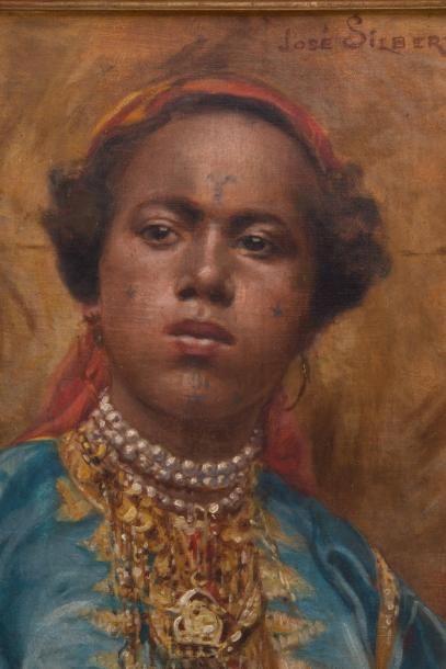 SILBERT José (1862-1939) SILBERT José (1862-1939)  Portrait d'une Mauresque du Sud...