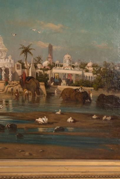 Gustave Césaire GARAUD (1847-1914) Gustave Césaire GARAUD (1847-1914)  Paysage oriental...