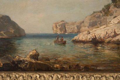 RAPHAËL LUC PONSON (1835-1904) Raphaël Luc PONSON (1835-1904)  Calanque de Port-pin...