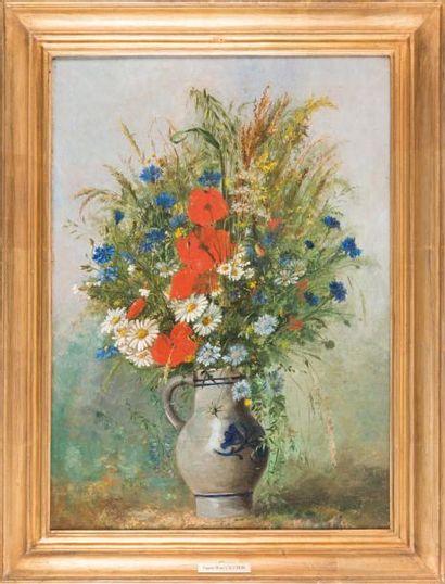 Eugene Henri CAUCHOIS (1850-1911) Eugène Henri CAUCHOIS (1850-1911)  Bouquet de fleurs,...