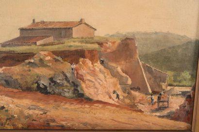 Alfred CASILE (1848-1909) Alfred CASILE (1848-1909)  Le Mas  Huile sur toile  Signée...