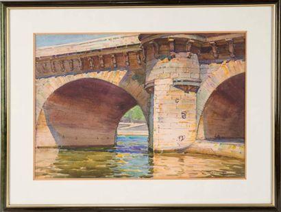 Casimir RAYMOND (1870-1955) Casimir RAYMOND (1870-1955)  Vue d'un pont en Provence...